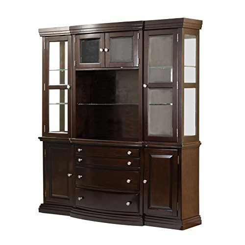 Dining Room Walnut Hutch (HOMES: Inside + Out Tarah Transitional Style Hutch Buffet, Dark Walnut)