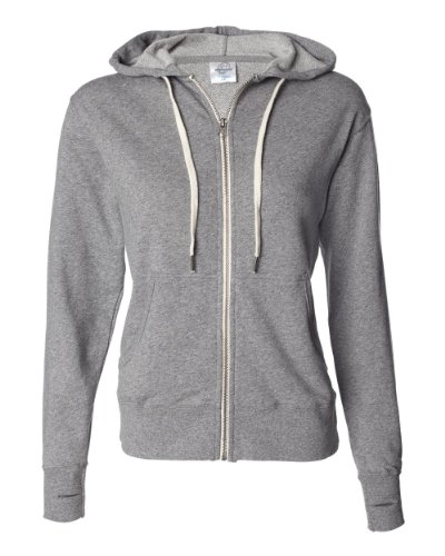 (Independent Trading Co. French Terry Heather Sweatshirt PRM90HTZ-Slt & Pppr-LG)