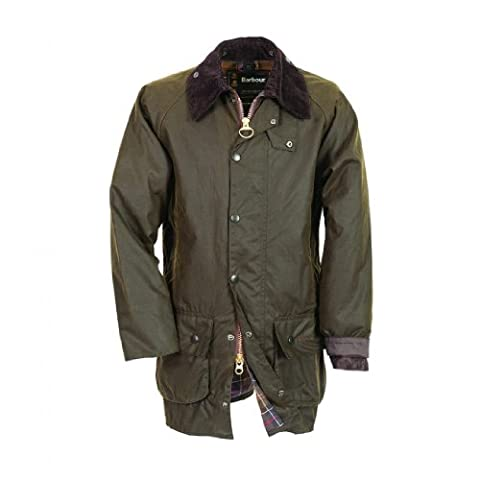 Barbour Beaufort Jacket (50, Sage) - Beaufort Waxed Cotton Jacket