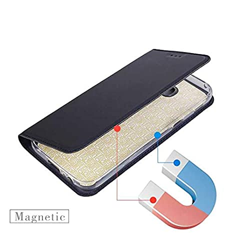 CUSKING Ultra Slim Wallet Case Magnetic Flip Cover with Card Holder Galaxy A5 2017 Case Folding Stand Protective Case with Silicone Inner Case for Samsung Galaxy A5 2017 Black