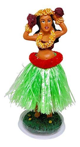 Hawaiian Dashboard Doll Hula Girl Dancer With Musical Shakers, 6.5