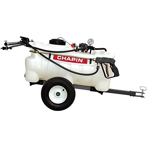 - Chapin International 97700N EZ Dripless Tow Behind Sprayer, 25 gallons, Translucent White