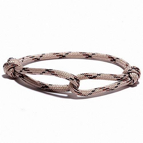 Mikash DIY Umbrella Rope Braided Luck Survival Bracelets Bangles Men Women | Model BRCLT - 9892 |