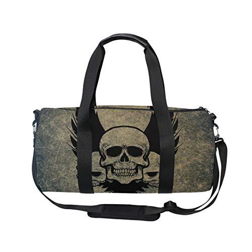 Skull Crossbones Wings - MUOOUM Awesome Skull Crossbones Wings Sports Gym Bag Travel Duffel Bag for Women and Men Luggage Handbag ...