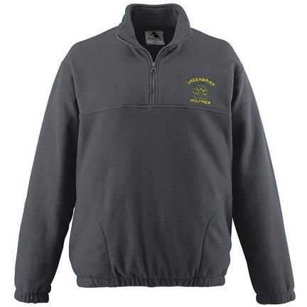 Augusta Sportswear Chill Fleece Half-Zip Pullover Jacket from Dark Green