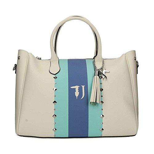 Trussardi Jeans Blondie, Borsa Tote Donna, 40x43x23 cm Bianco
