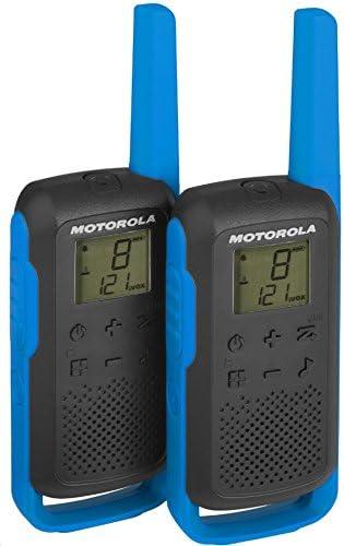 Motorola Talkabout T62 PMR, Radio de Banda ciudadana (PMR446, 16 Canales y 121 Códigos, Alcance de 8 Km, Azul