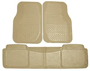 Koolatron Pants Saver Tan Better 3 Piece All Weather Car Mat Set (Tan)