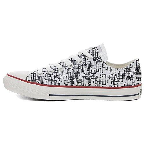 produit Artisanal Sneaker Et Unisex Low Italien Star Imprimés All Personnalisé Converse Abstract wFqnTH6C