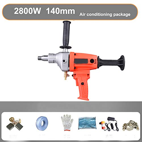 LWQ Electric Core Drill,Stepless Speed Concrete Diamond Handheld Core Drill Wet Concrete Core Drilling Machine 140Mm