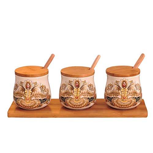QPGGP-cruet La combinación de lujo americana Retro Europea condimento olla olla ceramica China Copa Chile nuevo ingrediente...