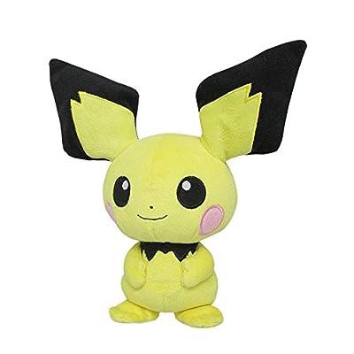 "Sanei Pokemon All Star Collection Pichu Stuffed Plush Toy, 8.5"": Toys & Games"