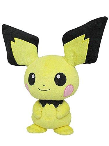 Sanei Pokemon All Star Collection Pichu Stuffed Plush Toy, 8.5