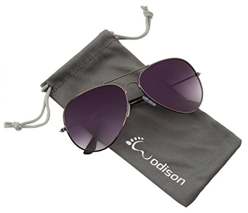 WODISON Vintage Mirrored Aviator Sunglasses for Women Men Reflective Lens Metal Frame