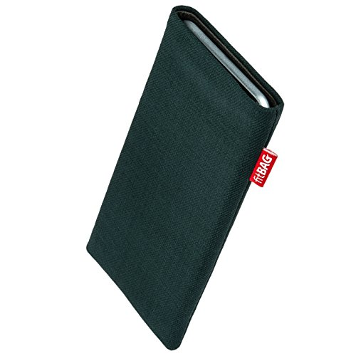 9630 Tour Green - fitBAG Rave Green Custom Tailored Sleeve for BlackBerry Tour 9630. Fine Suit Fabric Pouch with Integrated Microfibre Lining for Display Cleaning