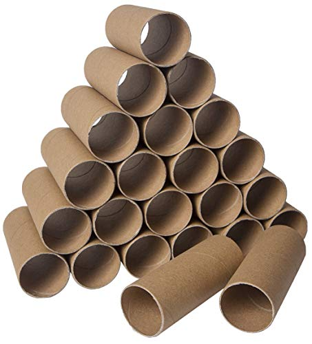 30 Pack Craft Rolls - Round Cardboard Tubes - Cardboard Tubes for Crafts - Craft Tubes - Paper Tube for Crafts - 1.57 x 3.9 Inches - Brown