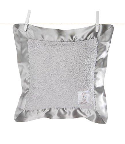 Little Giraffe Chenille Pillow, 14 Inch x 14 Inch, Silver