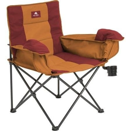 Folding Camp Chair , Cool Weather Insulated椅子、オレンジ B078T9PKNQ