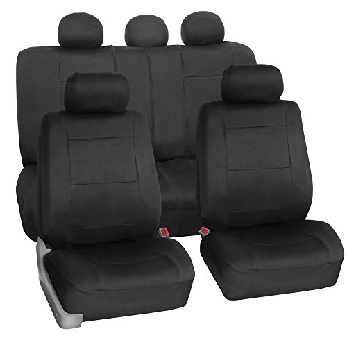 FH Group FB083BLACK115 Full Set Seat Cover (Neoprene Waterproof Airbag