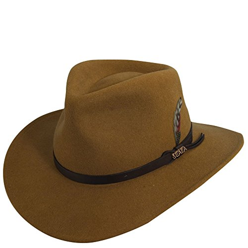 Scala Classico Men's Crushable Felt Outback, Pecan, X-Large -