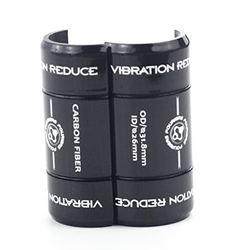 Fouriers AC-S002 Bike Handlebar Shim Carbon Convert 25.4mm 26mm 31.8mm Stem Reducer Adaptor Black (Ø31.8mm to Ø25.4mm)