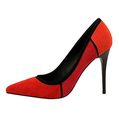 MiyooparkUK EU 2 DS1368 Femme Compensées Miyoopark Sandales 36 5 Red Rouge dCqZwxSn