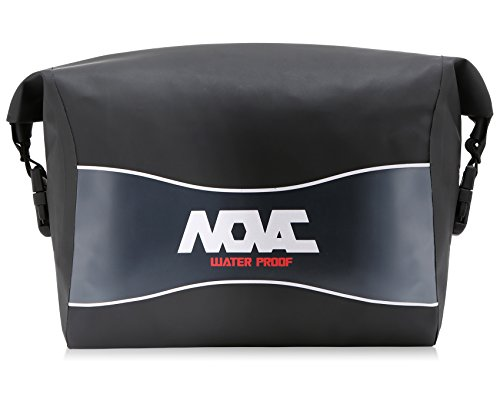 NOVAC Tarpaulin 100% Motorcycle Motocross Waterproof Pack Bag Pouch Case With Adjustable Waist Strap Connectable With Base Main Grip Safety Belt For Rider - Eugene Moto
