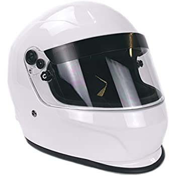 Typhoon Helmets Snell Sa2015 Approved Full Face Auto Racing Helmet White Large