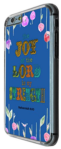 727 - Bible quote The Joy of the Lord is my Strenght Design iphone 6 PLUS / iphone 6 PLUS S 5.5'' Coque Fashion Trend Case Coque Protection Cover plastique et métal