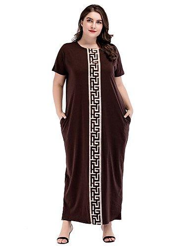 nbsp;Solid Abaya shift da geometrica stampa SHAUIGUO sera Colored abito boho Dress nbsp;– nbsp;– formale nbsp;Basic Zg48P