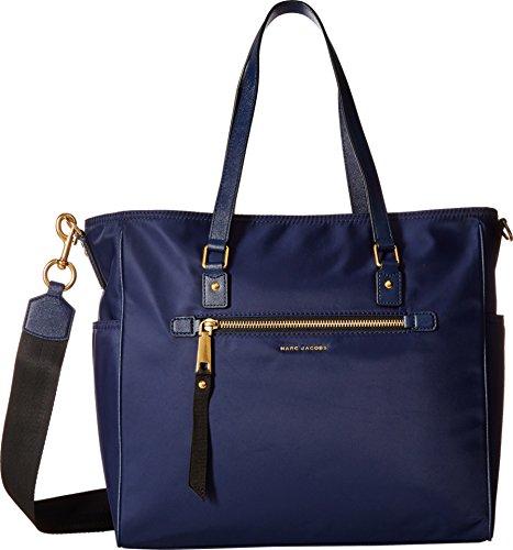 Marc Jacobs Womens Trooper Babybag Top-Handle Bag Blue (Midnight Blue)
