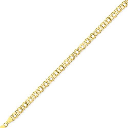 (MCS Jewelry 14 Karat Yellow Gold Round Link Charm Bracelet (Length: 7 1/4