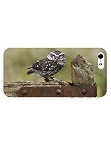 3d Full Wrap Case For Ipod Touch 4 Cover Animal Owl On The Fence