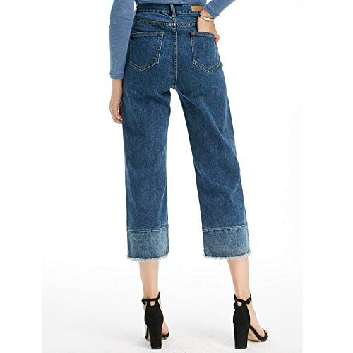 L MVGUIHZPO Jeans Femme Damengro handel Jeans Jeans ssige Jeans Frauen l Beine Weite xUxa6O7