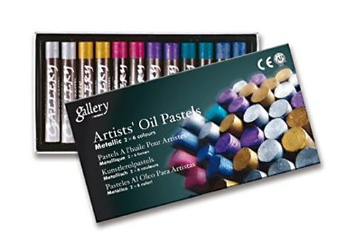 Mungyo Gallery Oil Pastels Cardboard Box Set of 12 Standard - Metallic Colors