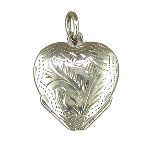 Pour Enfant En Argent Sterling quatre façon médaillon en forme de coeur sur un collier Gourmette