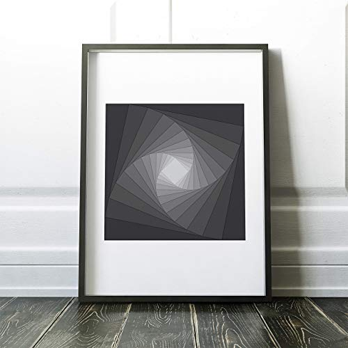Fractal Geometry Poster, Modern Abstract Print for Office, Unframed 16x20 inch Print