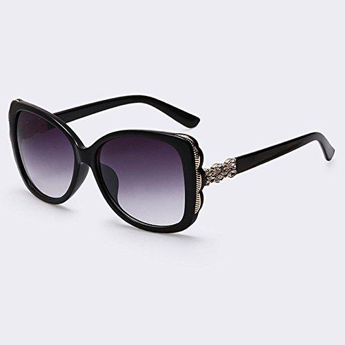 UV400 hembra de C05 Gafas Gafas Moda gafas TIANLIANG04 marco degradado de de Mujer estilo grandes gafas señora de sol C06 anteojos veraniego cuadrados gBn7Rq