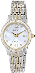 Seiko Women's SUT092 Diamond-Accented Two-Tone Stainless Steel Watch