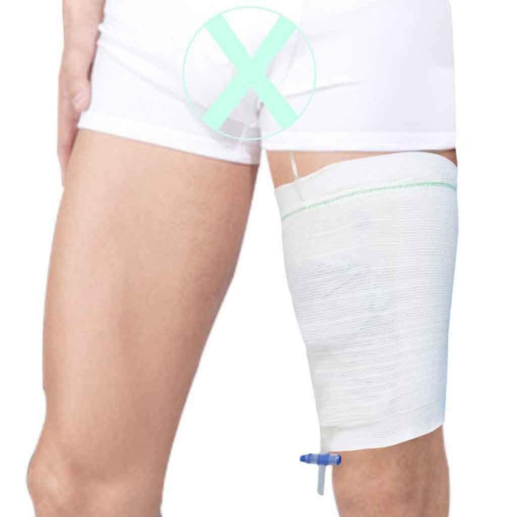 Urine Leg Bag Holder Secure Health Leg Care Sleeve Comfort Strap Leg Bag for Incontinence Supplie,Washable,Easy Walking (Pack of 2)-M by Carerleg@