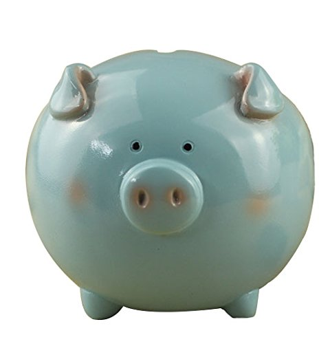 ZCHING Resin Piggy Bank Toy Banks for Kids Girls Personalized Nursery Decor (blue2) (Positively Pigs)