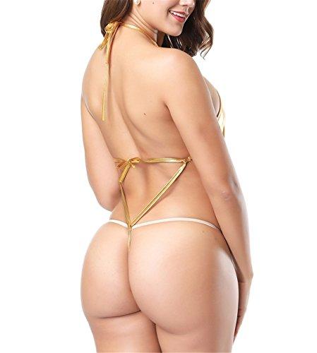für Tenxin Erotische Body oro Wetlook Leder Dessous Frauen Clubwear Sexy Nachtwäsche Dessous XTxX8w