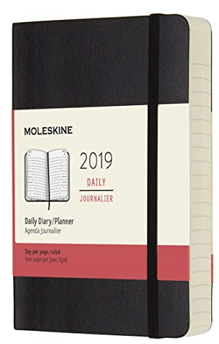 Moleskine Classic 12 Month 2019 Daily Planner, Soft Cover, Pocket (3.5