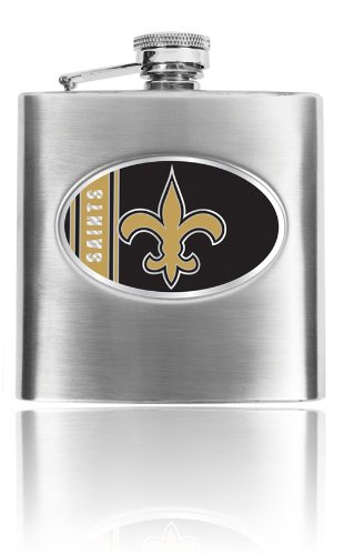 Personalized NFL New Orleans Saints 8oz stainless steel Flask- Free Engraving