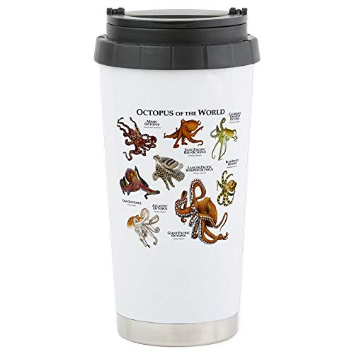 CafePress Octopus Of The World Stainless Steel Travel Mug, Insulated 16 oz. Coffee Tumbler