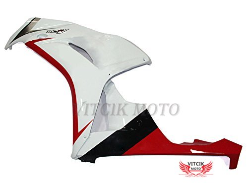 White /& Red A129 Plastic ABS Injection Mold Complete Motorcycle Body Aftermarket Bodywork Frame Fairing Kits Fit for Honda CBR1000RR 2006 2007 CBR1000 RR 06 07 VITCIK