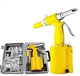 Air Hydraulic Rivet Gun Tool Pneumatic 3/16'' Kit Heavy Duty
