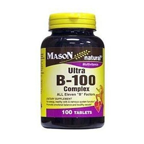 2 Pack Special of MASON NATURAL ULTRA B-100 COMPLEX TABLETS 60 per (Ultra B-complex 100 Tablets)