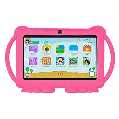 Xgody T702 7 Inch HD Kids Tablet PC for Kids Quad Core Android 8.1 16GB ROM 1GB RAM Touch Screen with WiFi Pre-Loaded 3D Game Dual Camera Pink (Best Tablet Pc For Kids)