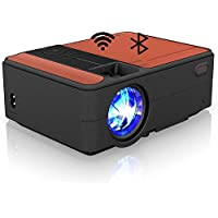 Portable WiFi Video Projector with Bluetooth 2020 Updated Mini LCD Android Wireless Projectors 3650 Lumen LED Home…